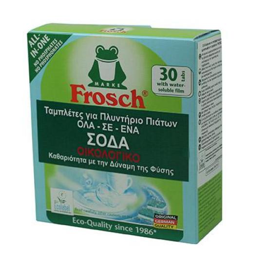 Frosch ταμπλέτες πλυντηρίου πιάτων σόδα 30τεμ
