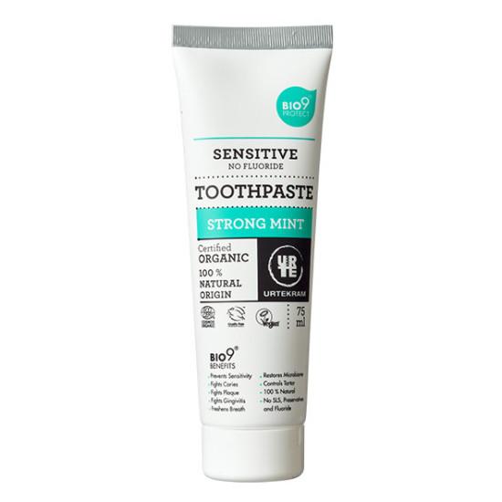 """Οδοντόκρεμα με μέντα χωρίς φθόριο BIO9, """"Urtekram"""" 75ml"""