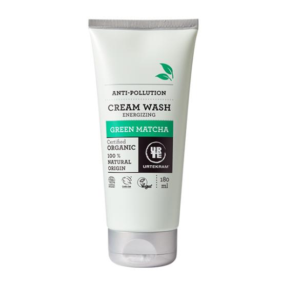 """Αφρόλουτρο με πράσινο μάτσα για αναζωογόνηση,""""Urtekram"""" 180ml"""