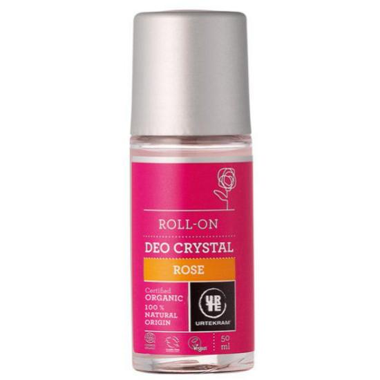 "Aποσμητικό κρύσταλλος (roll on) τριαντάφυλλο ""Urtekram"" 50ml"