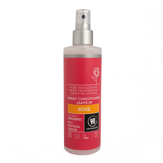 """Κοντίσιονερ με τριαντάφυλλο, spray """"Urtekram"""" 250ml"""