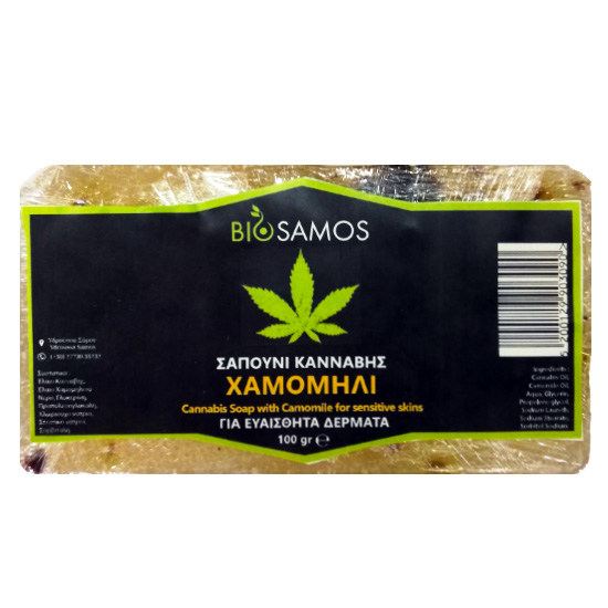 Σαπούνι Κάνναβης με Χαμομήλι για Ευαίσθητο Δέρμα (100γρ)
