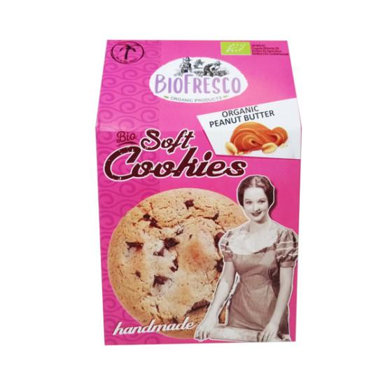 Soft cookies BIO με κουβερτούρα και φυστικοβούτυρο 'Βιοφρέσκο', 4x40g