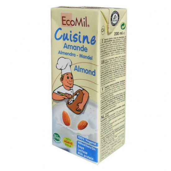 Ecomil Κρέμα μαγειρικήs από αμύγδαλα 200ml