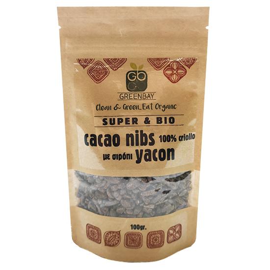 Ακατέργαστα Κομμάτια Κακάο (Cacao Nibs) με Yacon (100γρ)