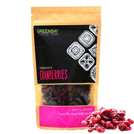 Κράνμπερις (Cranberries) αποξηραμένα (125γρ)