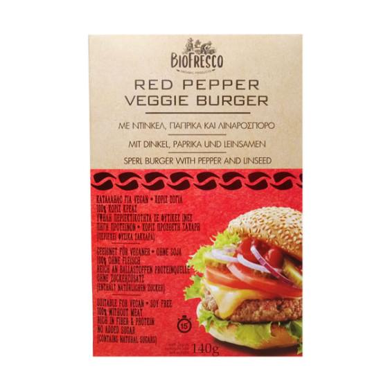 Veggie Burger με ντίνκελ, πάπρικα & λιναρόσπορο, 140g
