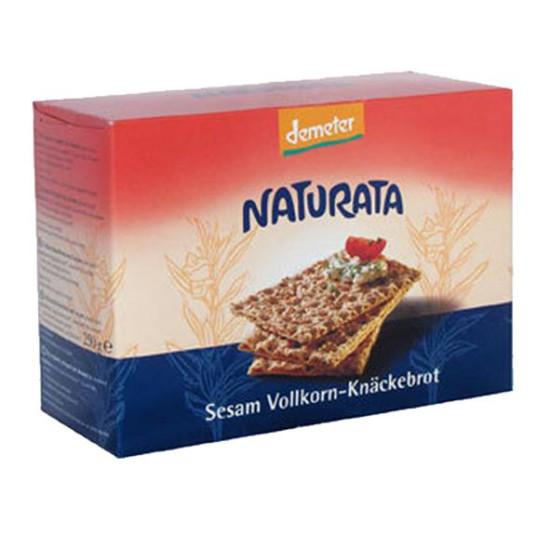 """Γαλέτα σίκαλης ολικής με σουσάμι """"Naturata"""" 250gr"""