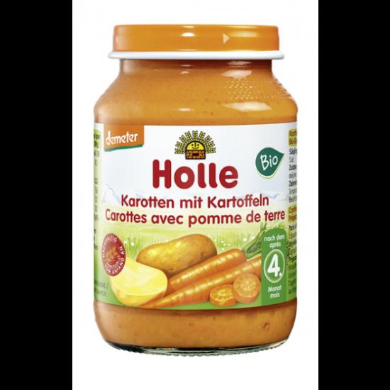 Καρότο με πατάτα, βιοδυναμικής καλλιέργειας Holle σε βάζο, 190gr