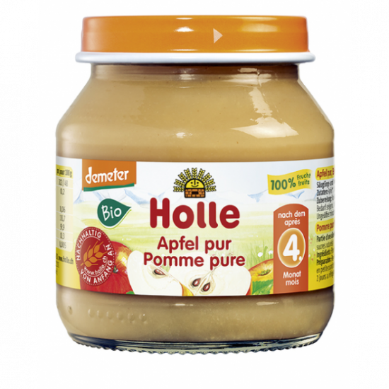 100% Μήλο σε βάζο Holle, 125gr