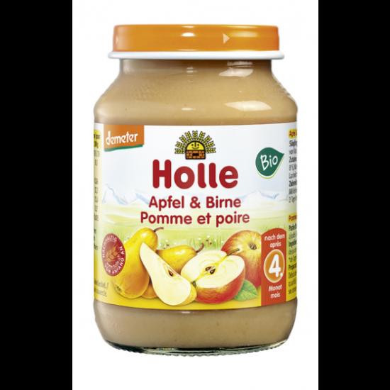 Μήλο και αχλάδι σε βάζο Holle, 190gr