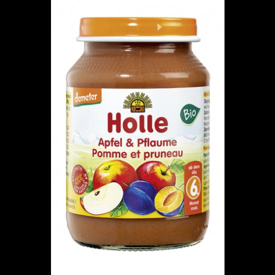 Μήλο και δαμάσκηνο βιοδυναμικής καλλιέργειας Holle σε βάζο, 190gr