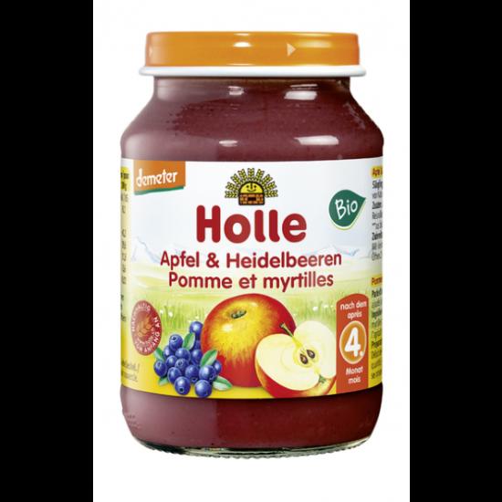 Μήλο και μούρα Holle σε βάζο,190gr