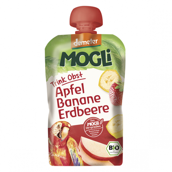 Mogli παιδικό πουρεδάκι μήλο-μπανάνα-φράουλα 100ml