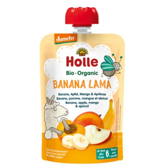 Holle παιδικός πουρές μπανάνα, μήλο, μάνγκο και βερίκοκο 100g