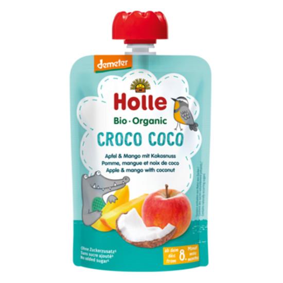 Holle παιδικός πουρές μήλο, μάνγκο και καρύδα 100gr