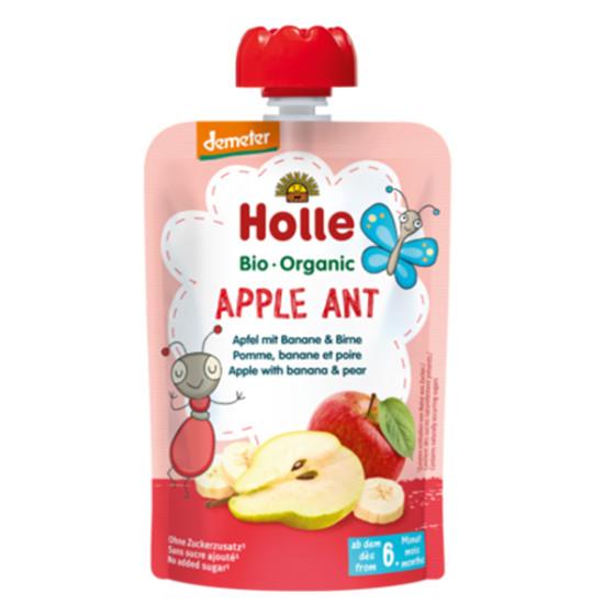 Holle παιδικός πουρές μήλο, μπανάνα και αχλάδι 100g