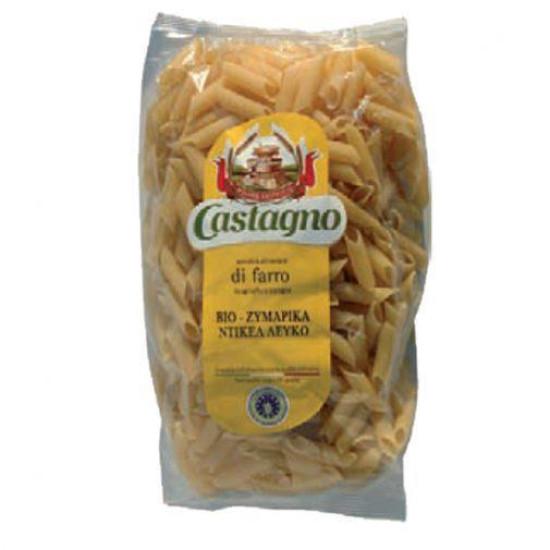 """Πέννες από δίκοκκο σίτο 100% λευκές """"Castagno"""" 500gr"""