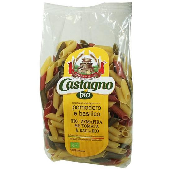 """Πέννες με τομάτα & βασιλικό """"Castagno"""" 500gr"""