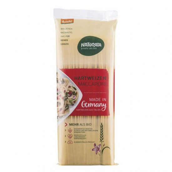 Μακαρόνι χονδρό για παστίτσιο, Naturata 500g