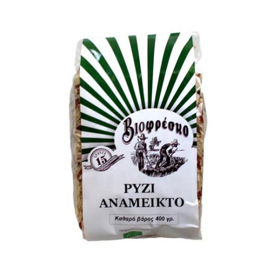 """Ρύζι ανάμεικτο """"Βιοφρέσκο"""" 400gr"""